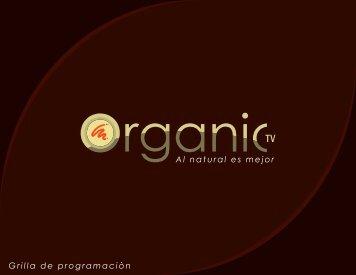 Grilla de Programación OrganicTv