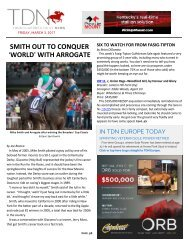 SMITH OUT TO CONQUER >WORLD= WITH ARROGATE wellmuscled