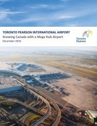 TORONTO PEARSON INTERNATIONAL AIRPORT Growing Canada with a Mega Hub Airport