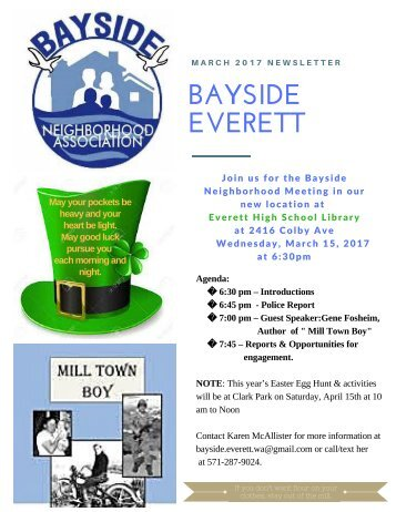 March 2017 Bayside Everett Newsletter
