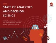 STATE OF ANALYTICS AND DECISION SCIENCE