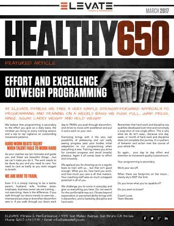 HEALTHY650 Newsletter - March 2017 web