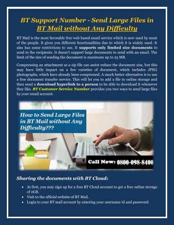 Send Large Files in BT Mail without Any Difficulty
