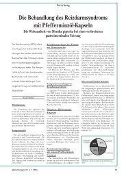Die Behandlung des Reizdarmsyndroms mit Pfefferminzöl-Kapseln