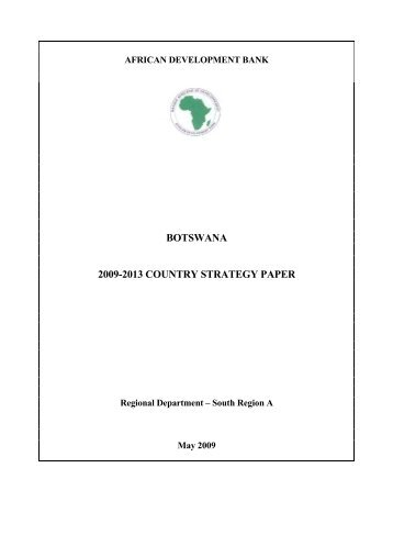 Botswana - Country Strategy Paper - African Development Bank