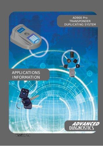 AD900 Pro Applications - Advanced Diagnostics
