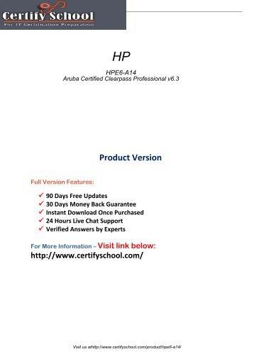 HPE6-A14 Exam Practice