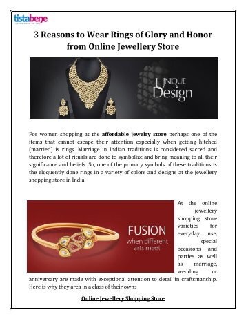 3 Reasons to Wear Rings of Glory and Honor from Online Jewellery Store