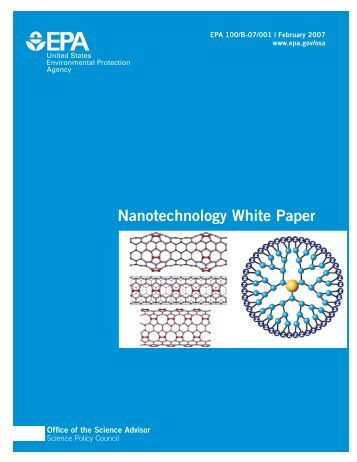 Nanotechnology White Paper - US Environmental Protection Agency
