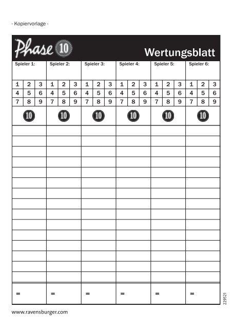 Phase 10 Wertungsblatt Pdf