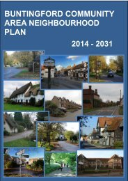 BUNTINGFORD COMMUNITY AREA NEIGHBOURHOOD PLAN 2014 - 2031