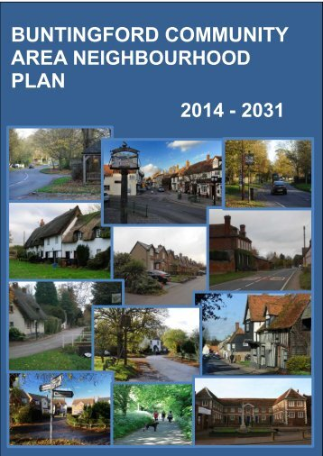 BUNTINGFORD COMMUNITY AREA NEIGHBOURHOOD PLAN 2014 - 2031