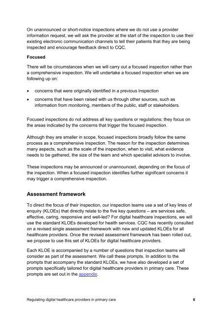 Clarification of regulatory methodology PMS digital healthcare providers