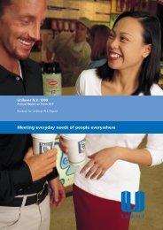Meeting everyday needs of people everywhere - Unilever