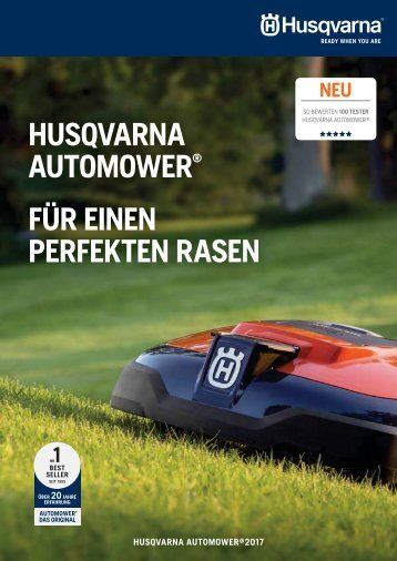 Husqvarna Automower Experten Broschüre 2017