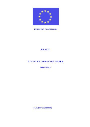 Brazil Country Strategy paper 2007-2013 - the European External ...