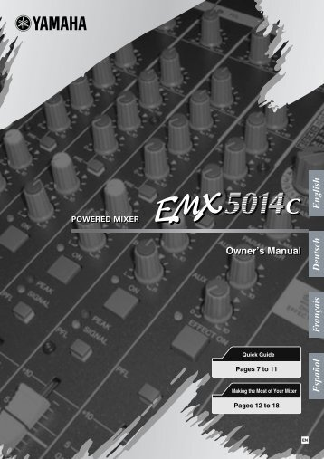 EMX5014C Owner's Manual - zZounds.com
