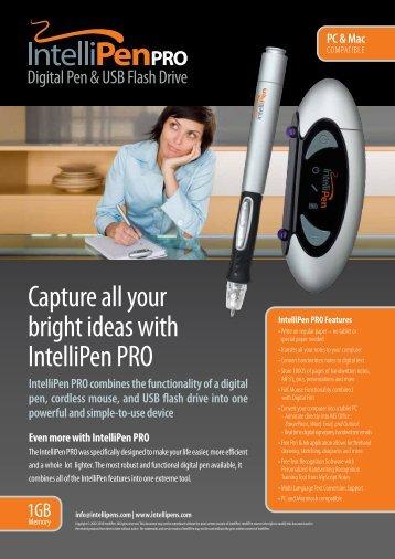 Download Product Brochure (PDF) - IntelliPen