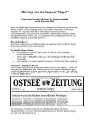 """""""Wie bringt man eine Kerze zum Fliegen"""" - Kinder-Uni Rostock"""