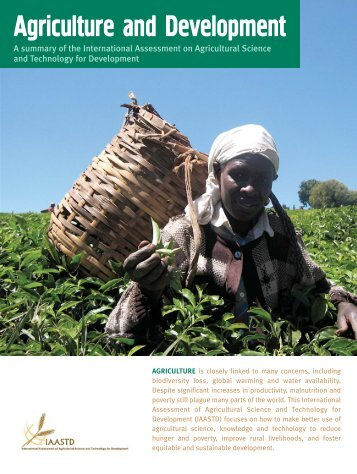 Agriculture and Development - GreenFacts