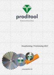 Produktkatalog Proditool Diamantwerkzeuge & Baumaschinen