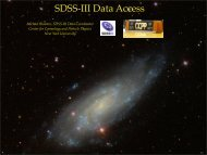 SDSS-III Data Access