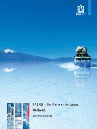 Brand-Katalog: Ihr Partner im Labor