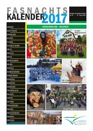 Sarganserland Fasnachtskalende 2017