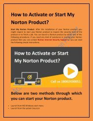 How to Activate or Start My Norton Product