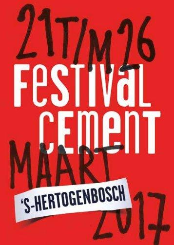 Festival Cement programmaboekje 2017