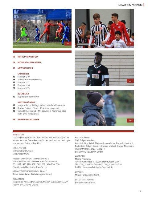 Eintracht Frankfurt Spielzeit 16/17 März 2017