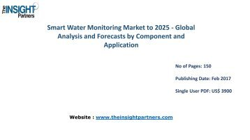 Strategic Assessment of Worldwide Smart Water Monitoring Market – Forecast Till 2025 |The Insight Partners