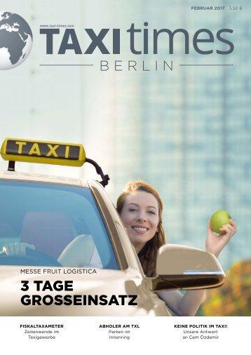 Taxi Times Berlin - Februar 2017