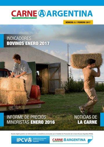 BOVINOS ENERO 2017 INFORME DE PRECIOS MINORISTAS ENERO 2016 NOTICIAS DE LA CARNE