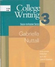 College Writing 3-1