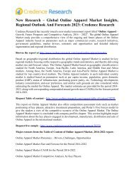 New Research – Global Online Apparel Market Insights, Regional Outlook And Forecasts 2023: Credence Research