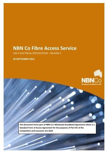 NBN Fibre Access Service – Telephony Electrical Interface - NBN Co