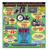 WHOLESALE DEALER CATALOG - Factory Direct Marketing