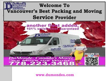 Professional Packing Service Vancouver|Du Monde Moving