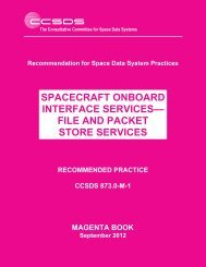 Spacecraft Onboard Interface Services—File and Packet ... - CCSDS