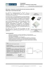 Innenraumfühler Temperatur/Feuchte KNX-Sensor ... - Arcus-EDS