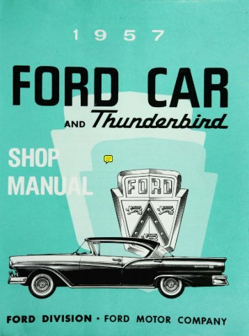 DEMO - 1957 Ford Car and Thunderbird Shop Manual
