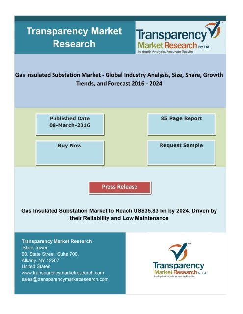 Gas Insulated Substation Market - Global Industry Analysis