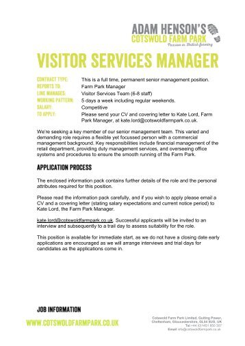 Job Description Post Visitor Services Manager    Southbank Centre