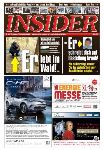 INSIDER Osnabrück // März 2017 // No. 404
