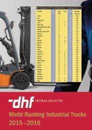 World Ranking Industrial Trucks 2015 – 2016