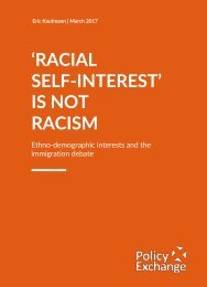 'RACIAL SELF-­‐INTEREST' IS NOT RACISM
