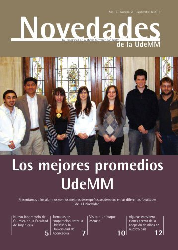 Los mejores promedios UdeMM - Universidad de la Marina Mercante