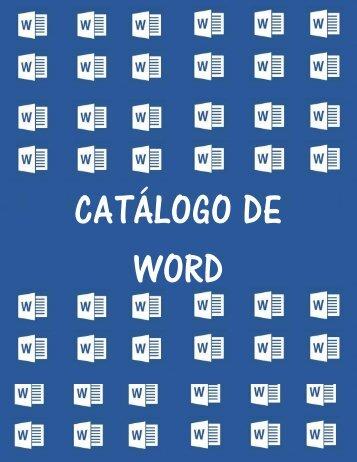 CATÁLOGO DE WORD