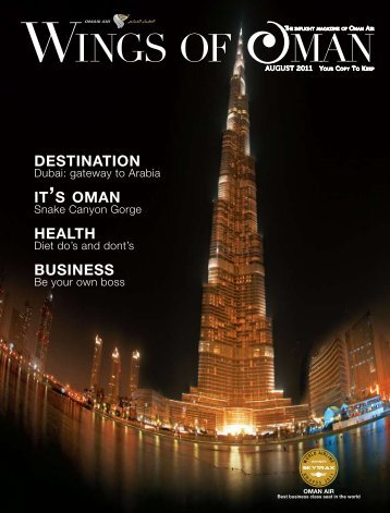 HEALTH BUSINESS IT'S OMAN DESTINATION - Oman Air